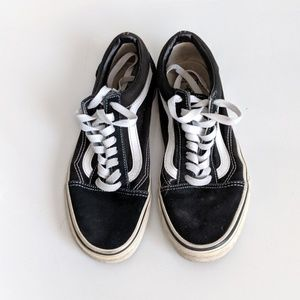 Vans Old Skool Black and White Size 8